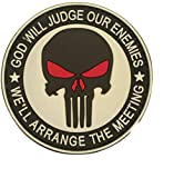 Cobra Tactical Solutions God Will Judge Our Enemies Parche PVC Táctico Moral Militar con Cinta adherente de Airsoft Cosplay para Ropa de Mochila Táctica