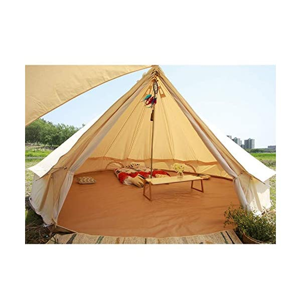 Sporttent Camping 4 Season Waterproof Cotton Canvas Bell Tent with Stove Hole and Cable Hole 4