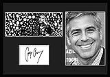10種類! ジョージ・クルーニー/George Clooney /サインプリント&証明書付きフレーム/BW/モノクロ/ディスプレイ/3W (03) [並行輸入品]