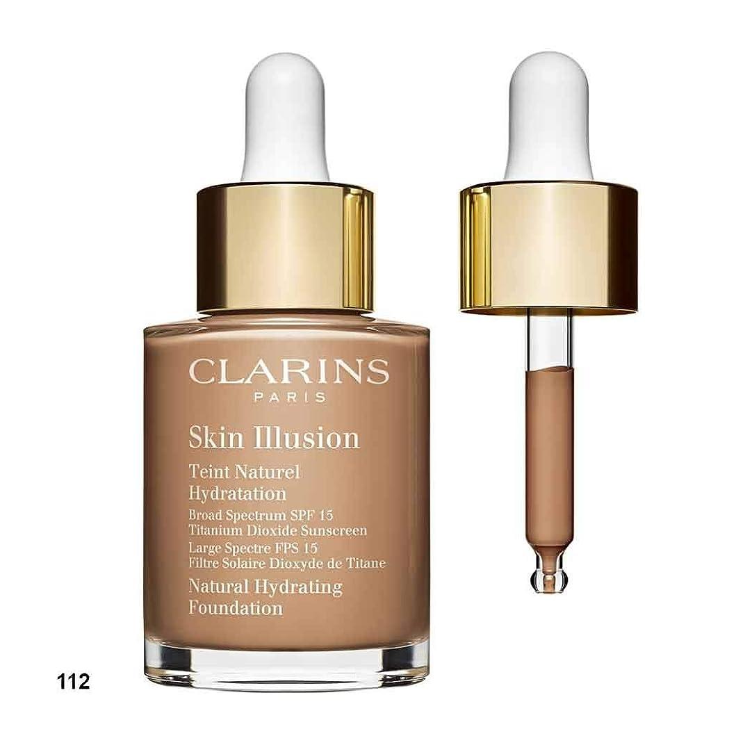 僕のオーブン汚物クラランス Skin Illusion Natural Hydrating Foundation SPF 15# 112 Amber 30ml/1oz並行輸入品