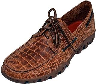 حذاء رجالي بتصميم ركوب الخيل مطبوع عليه Belly Loafer