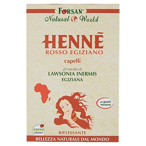 La Tradizione Erboristica Forsan - Hennè Rosso Egiziano per Capelli - Riflessante e Nutriente