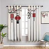 Pcglvie Cortinas con aislamiento térmico para oscurecimiento de la habitación, cortinas de 183 cm de largo, fáciles de instalar multi de ancho x 182 cm de largo