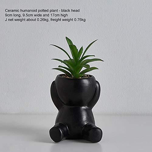 Humanoid keramiek bloempot creatief modern design plant bloem ambachten vaas huisdecoratie gepersonaliseerd geschenk