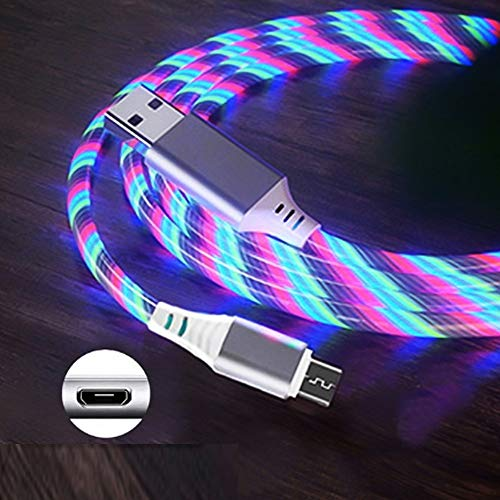 KITRION Length: 1m, 2.4A USB to Micro USB Colourful Streamer Loyal Charging Cable God (Color : Color Light)