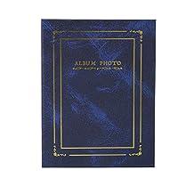 ネイルステッカー収納アルバム、ネイルステッカーコレクションブック、寛大な仕上がりレトロスタイルのマニキュアストアサロンショップ美容サロンホーム用(blue)