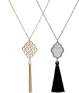 Best long necklace black Reviews