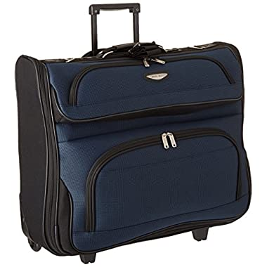 Travel Select Amsterdam Rolling Garment Bag Wheeled Luggage Case, Navy (23-Inch)