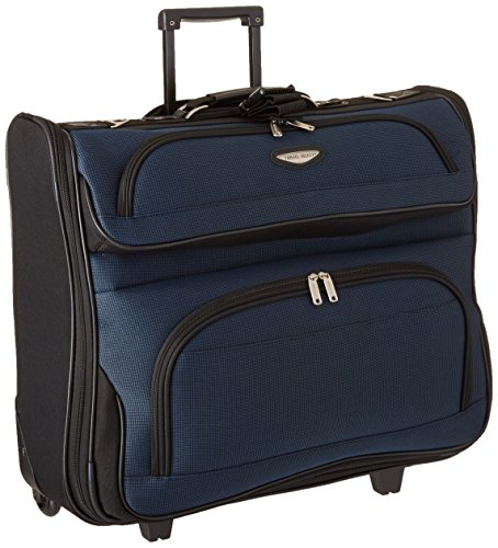 Travel Select Amsterdam Business Rolling Garment Bag with Protective Foam, Navy