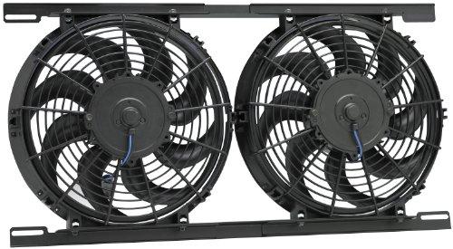 Hayden Automotive 3800 Dual Electric Fan Kit, Black