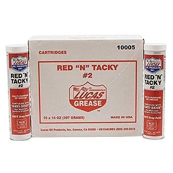 red and tacky grease