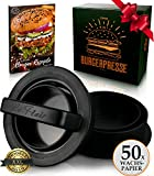 Le Flair XXL Burgerpresse-Set 4 in 1 -NEUES Modell 2019- mit E-Book | Burger Pattie Presse für...