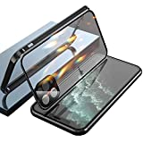 Double-Sided Buckle iPhone Case, for iPhone 11/12 PRO MAX (noir, Pour IP 11 Pro Max)