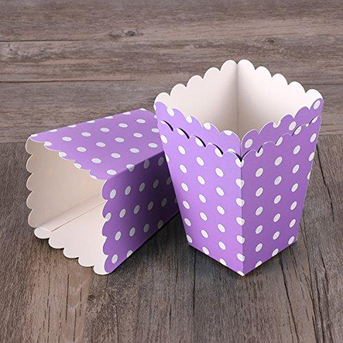 YeahiBaby 24 cajas de palomitas de maíz con soporte para cajas de...