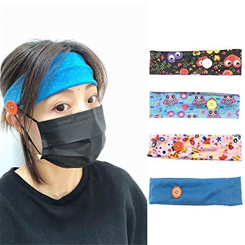 LUONE 5 pièces de Mode Bandeaux pour Les Femmes, Imprimer Rétro Style Ethnique Accessoires Cheveux Twisted Head Bandes