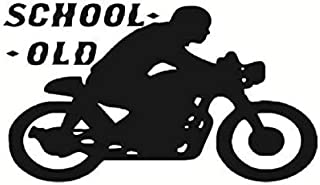 Wall Sticker Old School Motorcycle Wall Sticker Sport Moto Vinyl Art Wall Mural Sticker for Home Decoration Kids Bedroom Removable Wall Paper 102x58cm
