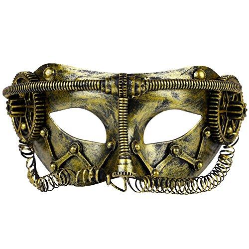 Funpa Party Ball Mask Kostuum Masker Vintage Steampunk Half Gezichtsmasker Maskerade Masker voor Heren