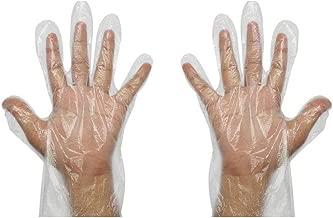 vinayaka mart Plastic Disposable Gloves (Transparent) - 100 Pcs