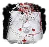 Frotteebox zur silbernen Hochzeit, Geschenk Set alsBärenpaar im Bett, selbstgemachtes Geschenk zur...