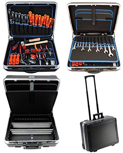 FAMEX 604-79 Trolley ABS Werkzeugkoffer mit Werkzeug in High-End Qualität