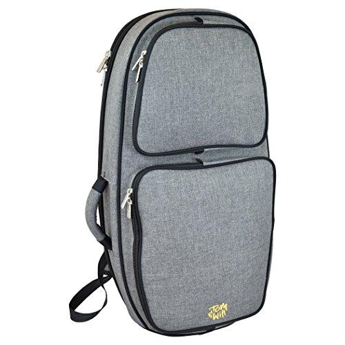 Tom y voluntad 26bh-315funda tipo mochila para bombardino barítono, color gris