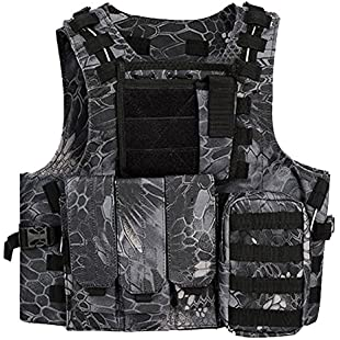 QMFIVE Vest Army Airsoft MOLLE RRV Assault Combat Vest with pouch/Traning Protective Security Vest for Tactical Hunting Airsoft Outdoor (TYP):Firmwarerom