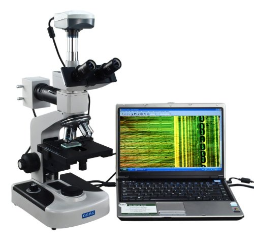 OMAX 40X-1600X Digital Trinocular Metallurgical Microscope with Double Layer Mechanical Stage and 5.0MP USB Camera