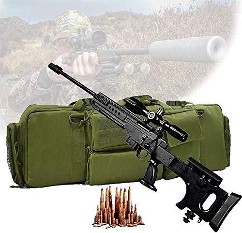 WSZYBAY Caja táctica de Doble Rifle, Cajas de Rifle Suave con Dos Capas de Rifle, cojín de Pedestal, Base de Magia Base Fija, Bolsa de Almacenamiento de Rifle para Escalar, Pescar, Acampar