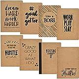 Motivational - Cuaderno de viaje (5,75 x 8,25, 8 diseños, 8 unidades)