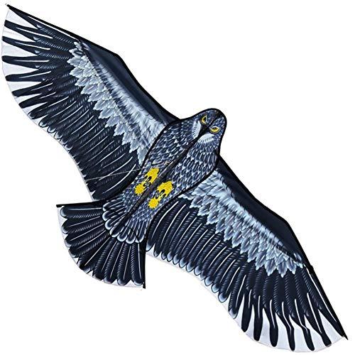 Groust Großer Kinder-Drachen, Großer Adler Flug-Drachen Für Kinder & Erwachsene, Leicht Zu Fliegender Drachen Für Jungen Mädchen Outdoor-Aktivitäten - Riesiger Spannweite Lebensecht - Schwarz