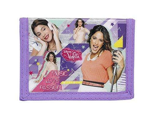 Disney Violetta, Geldbeutel Portemonnaie (S036), Kinder Mädchen, violett, 12,5 x 9,5 x 1 cm