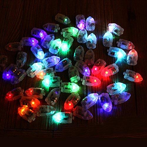 Inovey 50Pcs / Lot LED Lampes Ballons Lumières pour Papier Lanterne Ballon Multicolore Décor De Fête De Noël -Colorful