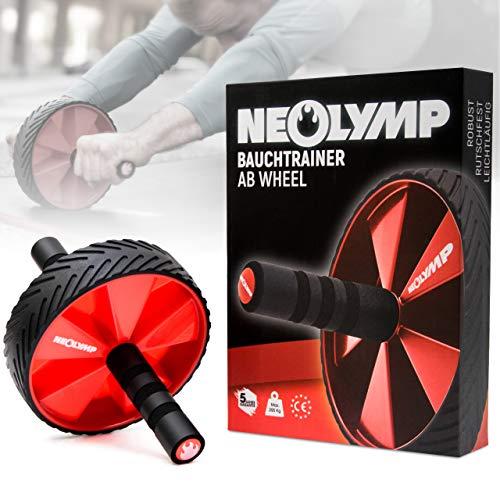 NEOLYMP Premium Bauchtrainer AB Roller + 5 Jahre Garantie | Sixpack Trainer | Bauchroller | Bauchmuskeltrainer | Bauch Weg Trainer | Bauchmuskeltraining | AB Roller | AB Wheel | Abdominal Roller