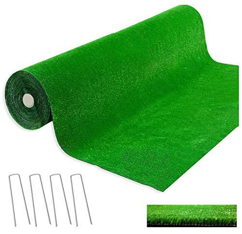 emmevi Césped sintético 2x 3metros grosor 7mm 100% Made in Italy calpestabile sintética Hierba alfombra Manto Jardín Exterior Interior