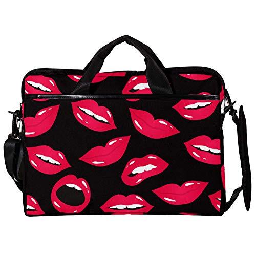 Lurnies Sexy Mund und Lippenstift Laptoptasche Rucksack Computer Tasche einzigartig Bedruckt Kompatibel mit 13-13,3 Zoll MacBook Pro, MacBook Air® Notebook-Computer 11 x 15 Zoll