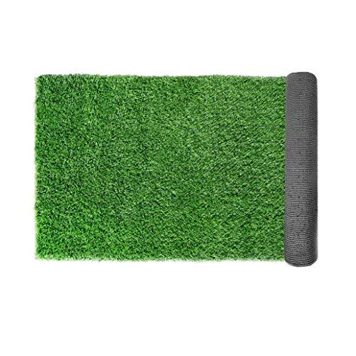 Auart Prima Interior y Exterior césped Artificial Verde Alfombra, con Orificios de desagüe y Caucho Backin y Antideslizante Turf (Color : 30mm, Size : 4mX2m)
