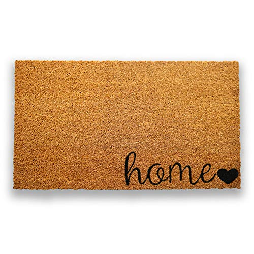 "Coco Coir Door Mat with Heavy Duty Backing, Home Doormat, 17""x30"" Size, Easy to Clean Entry Mat, Beautiful Color and Sizing for Outdoor and Indoor uses, Home Decor"