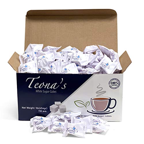 Teona's White Sugar, Individually Wrapped White Sugar Cubes,