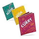 Reishunger Kochbuch Set - Curry, Sushi & Wok Kochbuch - Vegan, vegetarisch, mit Fisch & Fleisch