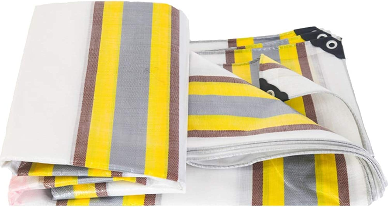 Jia He Tarpaulin Thickened Rainproof Cloth Truck Tarpaulin Waterproof Sunscreen Visor polyethylene Plastic Cloth Tarpaulin color Strip Cloth Tarpaulin, 23 Sizes @@ (Size   6mX6m)