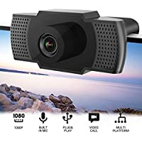 Flowmist 1080P HD USB Webcam with Microphone