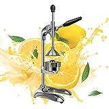 Professional Citrus Juicer, Commercial Manual Citrus Press Orange Squeezer Lemon Squeezer, Premium Quality Heavy Duty Squeezer Press Stand for Restaurants, Bars, Party or Super Markets