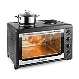 Klarstein Masterchef 60 - Min four, 60 litres, 2500 watts, 2 plaques de cuisson dotés de 1600 W de...