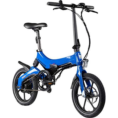 Zündapp Z201 16 Zoll Klapprad E-Bike Pedelec Faltrad Elektrofaltrad Elektrofahrrad StVZO (blau)