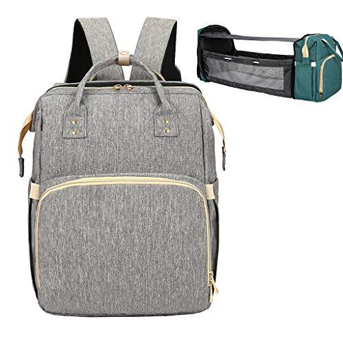 XINGYUE Bolsa cambiadora para bebé, bolsa cambiadora de pañales, portátil, de gran capacidad, plegable, mochila para cochecito de bebé, para viajes al aire libre