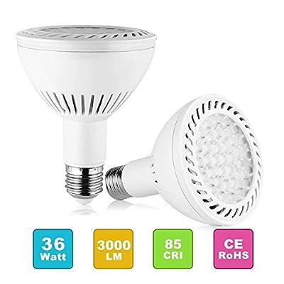 PAR30 Spotlight Light LED Bulbs Long Neck E26 E27 Base 35W 3500LM 25°Beam Angle Daylight White LED Flood Light Bulbs 350W Halogen Equivalent for Living Room