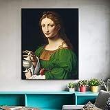 ganlanshu Quadro Senza Cornice Capolavoro del Famoso pittore Maddalena Quadri murali decorazione domestica 20X24cm