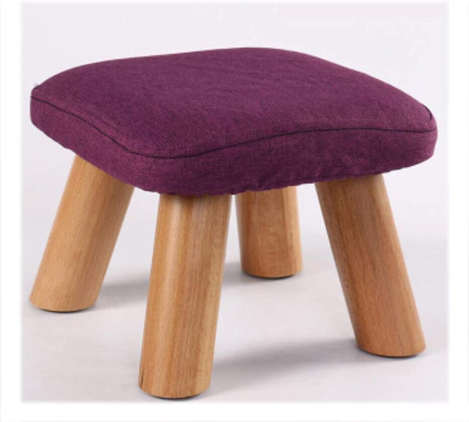 WOOD Mushroom Stool Solid wood shoes Stool Classic Low Stool Living Room Coffee Table Stool Wooden Bench (color   RED)