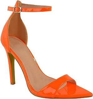 De Escharol Vn0pm8woyn Sandalias Vestir Para Amazon Naranja Zapatos XZwPiuOkT