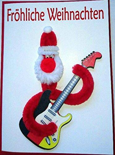ZZ-Design Weihnachts Karte Pfeifenreiniger Deutsche Gitarre 16x12cm